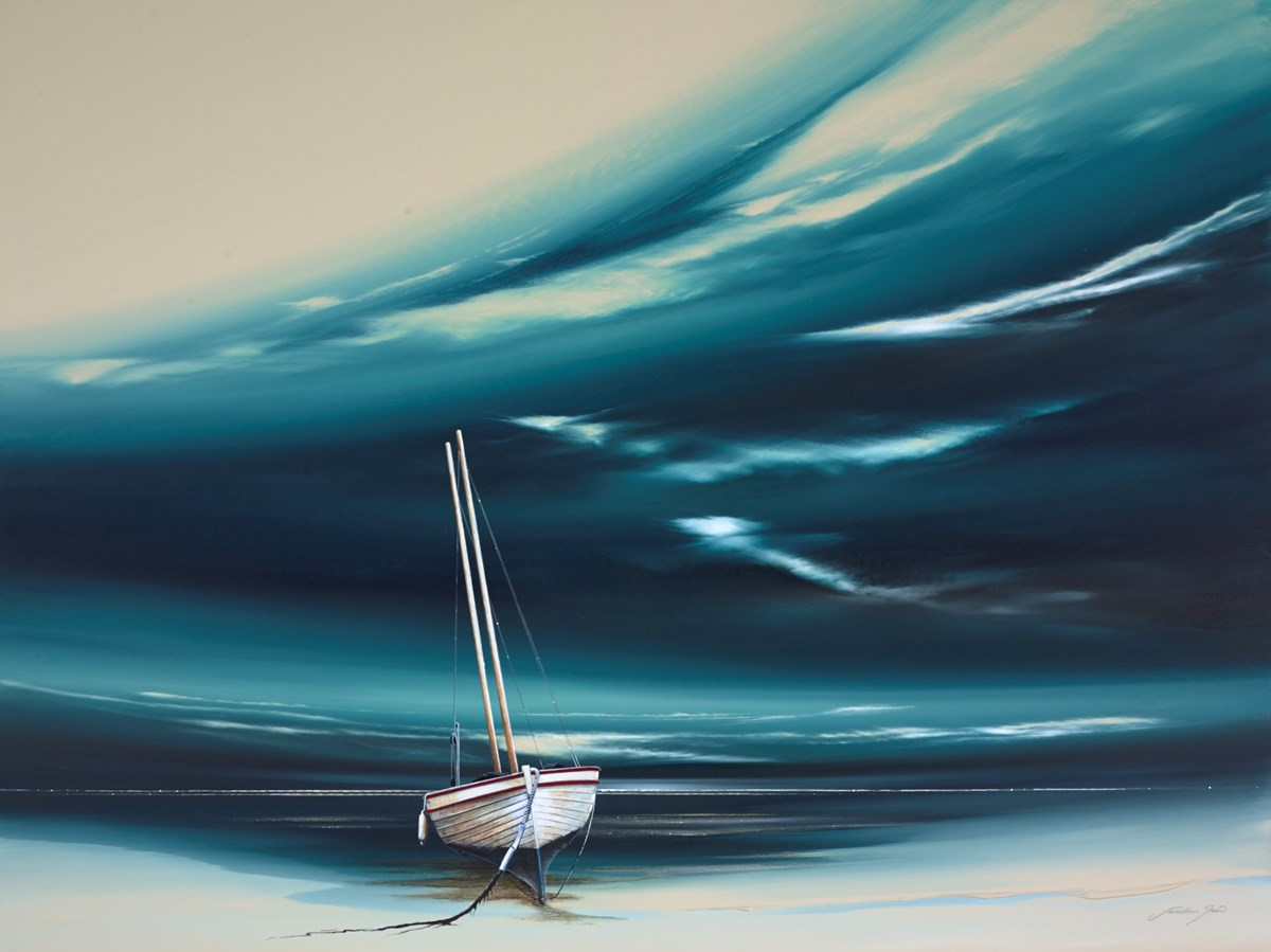 Jade Boat I by jonathan shaw -  sized 40x30 inches. Available from Whitewall Galleries